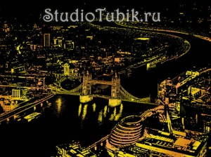 Скретч-картина Лондон-2 (London-Bright-City) 41х29 см Lago